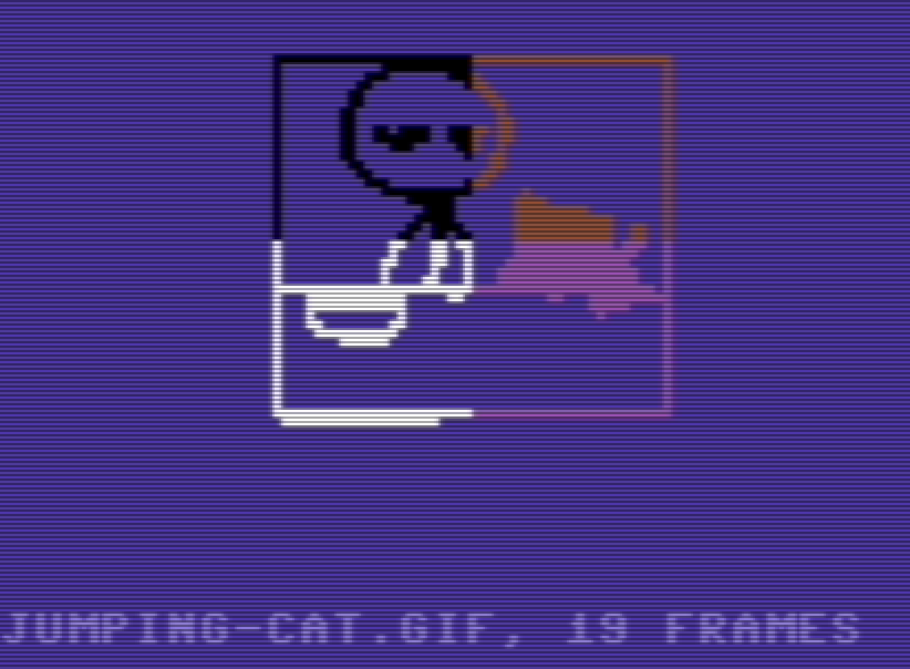 Rendering animated GIFs on a Commodore64